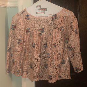 see through zara blouse